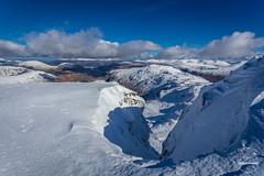 Central Gully (tristantinn) Tags: winter england mountain lake snow ice spring unitedkingdom climbing gb mountaineering skiddaw gully wasdalehead