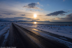 Ice road (Daniele Penati Photo) Tags: road street sunset norway norvegia ghiaccio goldcollection