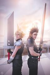 Cloud & Zack - F.F. (GC Frame Photography || Glen ||) Tags: anime art japan nikon f14 manga videogames final fantasy 24mm ade hercules 2016 romics sgima d5100