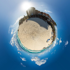 Planet Cancun (Tobias Mayr) Tags: ocean blue sky sun holiday hot beach water clouds fun hotel little sunny heat planet cancun leisure