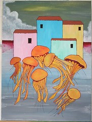 Dont scare jellyfish (Danilo Sacco) Tags: artwork paint canvas acrilic
