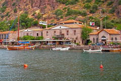Assos, Canakkale (yonca60) Tags: travel houses sea summer port marina pier boat historical yatch stonehouses assos canakkale behramkale traveltheworld summerdestination