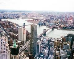New York City (danielfoster437) Tags: city newyorkcity urban newyork skyline analog buildings mediumformat corporate skyscrapers n officebuildings business commercial brooklynbridge newyorkskyline trade cityskyline finance mamiya7 newyorkcityskyline freedomtower corporatecenter