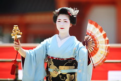 Odori performance by Maiko (Teruhide Tomori) Tags: portrait festival japan lady dance kyoto stage performance event maiko   kimono tradition japon       heianjingushrine