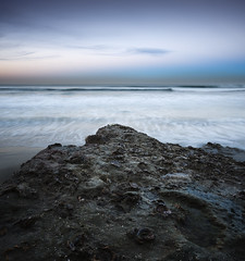 san diego : solana beach (William Dunigan) Tags: ocean california county morning light sea sky seascape motion blur color beach nature water rock del clouds sunrise landscape photography dawn mar early nikon san waves skies low north diego william formation clear southern solana d800 dunigan