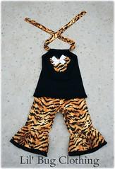 Tiger Minnie Halter Capri (Lil' Bug Clothing) Tags: animal mouse capri outfit top tiger kingdom minnie halter