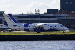 CityJet  RJ85 ~ EI-RJX ( Freddie) Tags: london londoncityairport newham e16 lcy royaldocks eglc runway27