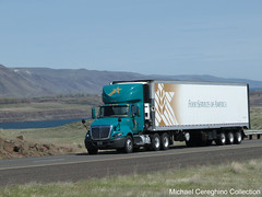 Food Services of America International Prostar daycab with triaxle reefer (Michael Cereghino (Avsfan118)) Tags: food america truck semi international transportation service trailer tri services trucking reefer ih fsa axle prostar of daycab triaxle