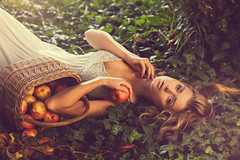 Woman in the garden (zbigniew waćkowski) Tags: autumn woman apple garden nikon ivy soe abigfave d700 bestportraitsaoi elitegalleryaoi