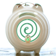 Traditional Japanese Ceramic Pig Mosquito Coil Holder BIG & small (Random Life Project) Tags: ceramic toys japanese miniatures pig rement japanesetoy bigsmall mosquitecoil
