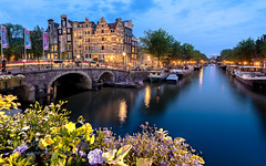 Amsterdam (l3v1k) Tags: city longexposure travel houses sunset house water netherlands amsterdam skyline architecture boat canal europe long exposure cityscape boathouse waterway brouwersgracht papiermolensluis 500px ifttt cityscacpe