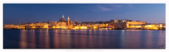 Valletta Panorama (glank27) Tags: blue panorama architecture canon photography cityscape stitch malta hour valletta ef50mm f18ii eos70d