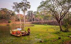 cambodia for tourists (phlickrron) Tags: tree green water boat asia asien cambodia urlaub kambodia 2014
