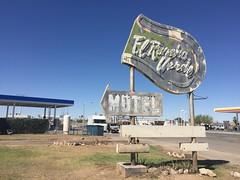 El Rancho Verde (jericl cat) Tags: california verde sign vintage neon motel el signage blythe arrow roadside rancho