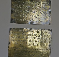 Though dust I lie - Kings Cliffe Northamptonshire (jmc4 - Church Explorer) Tags: church memorial northamptonshire kings brass wyman inscription cliffe kingscliffe wildbore