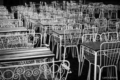 Waiting (Lars Karholm) Tags: blackandwhite bw blackwhite chair flag lars krholm karholm