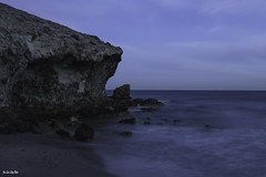 Cala de la Media Luna (jlpezrecio) Tags: blue espaa andaluca playa almera cabodegata caladelamedialuna