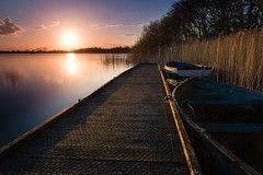 Tucked in (Photography by Tosh) Tags: uk sunset england lake water rural reeds nikon sundown unitedkingdom jetty norfolk peaceful gb d750 boardwalk marsh broad decking pontoon eastanglia norfolkbroads filby martintosh