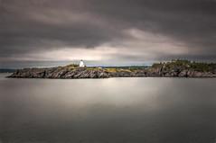 Lighthouse in New Brunswick (angie_1964) Tags: ocean lighthouse canada water ferry dark newbrunswick impressions topaz grandmananisland nikond300