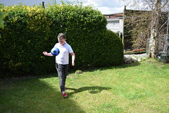 Jac practising his ball control! (pwllgwyngyll) Tags: old boy liverpool ball football goal control year ten supporter strike welsh practice footy striker jac anfield lfc liverpoolfc at
