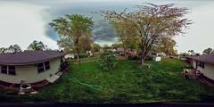 storm comin' in! (severalsnakes) Tags: roof cloud storm backyard 360 missouri ricoh spherical degrees theta sedalia thetas selfiestick theta360 selfieworld saraspaedy