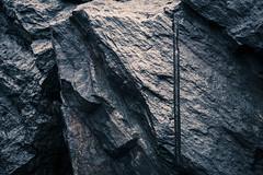 A Few Tons of Schist (Joyce and Steve) Tags: newyorkcity monochrome rain rock centralpark schist
