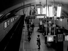 Retro & Modern (BUN BUKU) Tags: bw lamp station voigtlnder    nokton25mmf095 olympusomdem5