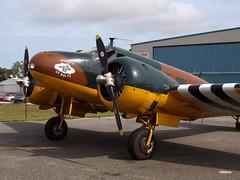 160329_09_C45 (AgentADQ) Tags: plane airplane airport force florida aviation air international bolts leesburg 18 beechcraft commemorative c45 expeditor bucker