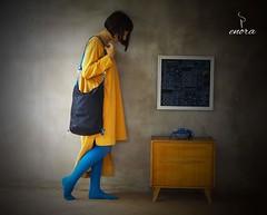 Zaino tracolla in denim.. #denim #backpack  #enora #bag #leather #handmade (enorabag) Tags: leather bag handmade backpack denim enora