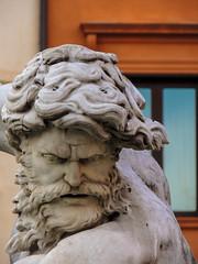 Statua (chiarafratocchi) Tags: roma italia uomo piazzanavona statua capelli marmo volto espressione baffi