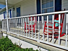 """ Rockin Years"" (~ Cindy~) Tags: blue red white house home chairs brothers tennessee front southern kingston porch years rocking railing dolly cushion rockers rockin parton thru the hbm 2016"