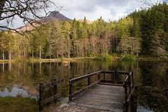 Glencoe Lochan (rebecca_simmons87) Tags: trees lake mountains reflection nature water beautiful landscape scotland pier spring highlands loch glencoelochan