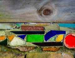 Broken Pieces (Slider Sunday) (trs125) Tags: abandoned glass hope artwork mosaic saturation pottery shattered betterdays fingerscrossed brokenpieces slidersunday