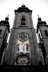 Cathedral of the Transfiguration - Close Verticle (john.vuong) Tags: sky ontario pope church john paul catholic cathedral god roman religion jesus landmark slovakia byzantine cananda markham transfiguration carillon ourdoors religulous