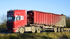 PN05 GAU (panmanstan) Tags: truck wagon motorway yorkshire transport lorry commercial newport vehicle freight scania bulk m62 haulage hgv r580
