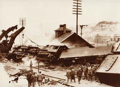 Railroad Wreck at Camp Douglas