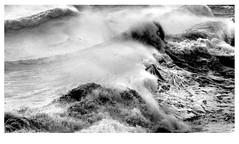 Tumult (d0u81a5) Tags: ocean sea bw waves stormy rough shoreham tumultuous