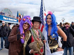 Dr. Takeshi Yamada and Seara (Coney Island Sea Rabbit) at the Coney Island Polar Bear Club's New Year Day Dipping (winter swimming event) at the Coney Island Beach in Brooklyn, New York on January 1, 2016.  mermaids.  20160101Fri- by Barry Yanowitz Photog (searabbits23) Tags: winter ny newyork sexy celebrity art beach fashion animal brooklyn asian coneyisland japanese star yahoo costume tv google king artist dragon god cosplay manhattan wildlife famous gothic goth performance pop taxidermy cnn tuxedo bikini tophat unitednations playboy entertainer samurai genius donaldtrump mermaid amc mardigras salvadordali billclinton hillaryclinton billgates aol vangogh curiosities bing sideshow jeffkoons globalwarming takashimurakami pablopicasso steampunk damienhirst cryptozoology freakshow barackobama polarbearclub seara immortalized takeshiyamada museumofworldwonders roguetaxidermy searabbit ladygaga climategate