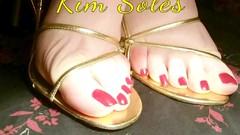 high heel sandals photos (Kim Soles) Tags: video womensshoes highheeled womensclothing strappysandals redtoenails womenssandals galaxys5 kildareweatherforcast kimsolesfootfetish