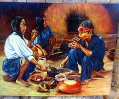 Lamas; Amazonian Eating Style, Castle Museum (earthdrifting) Tags: art museum eating museo indigenous amazonian