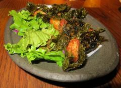 Deep-fried mountain yam in nori (Joel Abroad) Tags: food japanese restaurant oahu honolulu izakaya nori tororo yamaimo tsukuneya