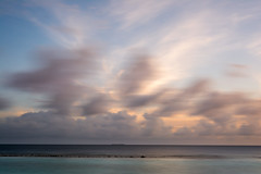The speed of time (AF | PHOTO) Tags: sunset sky beach clouds speed landscape baa vacanza maldive
