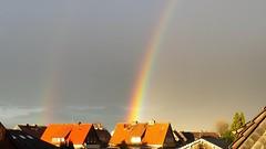 Double Rainbow (andromeda201113) Tags: storm colors sunshine rainbow colours nrw sunrays sonne doublerainbow nordrheinwestfalen sonnenstrahlen farben kamen sonnenlicht northrinewestphalia kamenheeren
