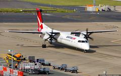 Qantaslink Bombardier Dash 8 Q400 VH-LQB at Brisbane domestic airport, Queensland, Australia (baltarusis) Tags: airport body australia brisbane aeroplane apron domestic short queensland service narrow regional turboprop haul dash8 bombardier taxiway q400 airstairs vhlqb