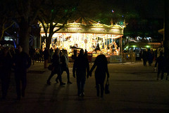 Southbank merry-go-round (Anthony Robinson Photography) Tags: street london night outdoor crowd carousel southbank waterloo merrygoround