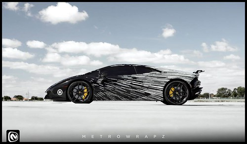 Lamborghini Huracan Darth Vader by Metro Wrapz