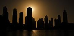 Dubai skyline (Jamie B Ernstein) Tags: city brown skyline buildings nikon dubai towers sillouette