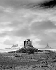 Lone Stack (Elevation 5280 Photography) Tags: blackandwhite snow infrared 4x5 monumentvalley blizzard navajotribalpark looproad filmisnotdead canhamcameras