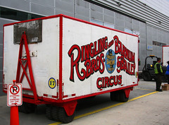 Circus Wagon, backside of Amway Center (5 of 14) (gg1electrice60) Tags: orlando parkinglot downtown florida gates circus tricycle fences motorcycles entertainment vehicle fl trailer orangecounty churchstreet downtownorlando southstreet churchst loadingdock i4 centralbusinessdistrict southst thegreatestshowonearth noparkingsign interstate4 circuswagons ringlingbrothersbarnumbailey divisionave rbbx ringlingbrosbarnumbaileycircus southdivisionavenue sdivisionave feldentertainment amwaycenter ringlingbrosbarumbailey rbbbcircus workerwithsafetyvest middleofsouthstreet