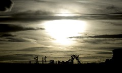 Farm stuff, E. County Rd 52, Larimer Cty, Colorado - IMG_4272-Edit-Edit (Paul L Dineen) Tags: sky brown sun nature silhouette clouds landscape farm